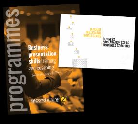 secondnature Programmes Menu and Corporate Brochure