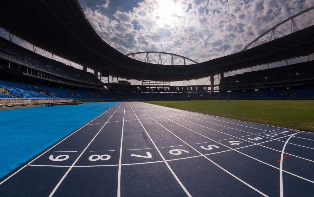 running track at the rio olympics