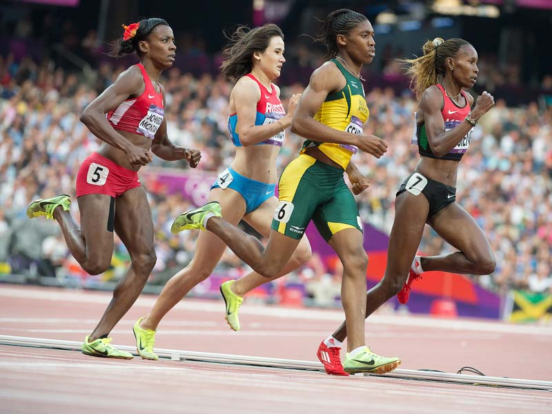 female athletes running at the RIO 2016 Olympics