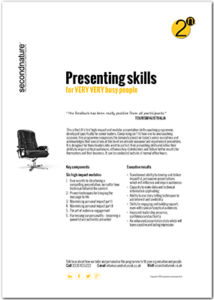 Presentation skills for Very Busy people