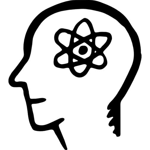 Drawing of Atom Inside Human Head
