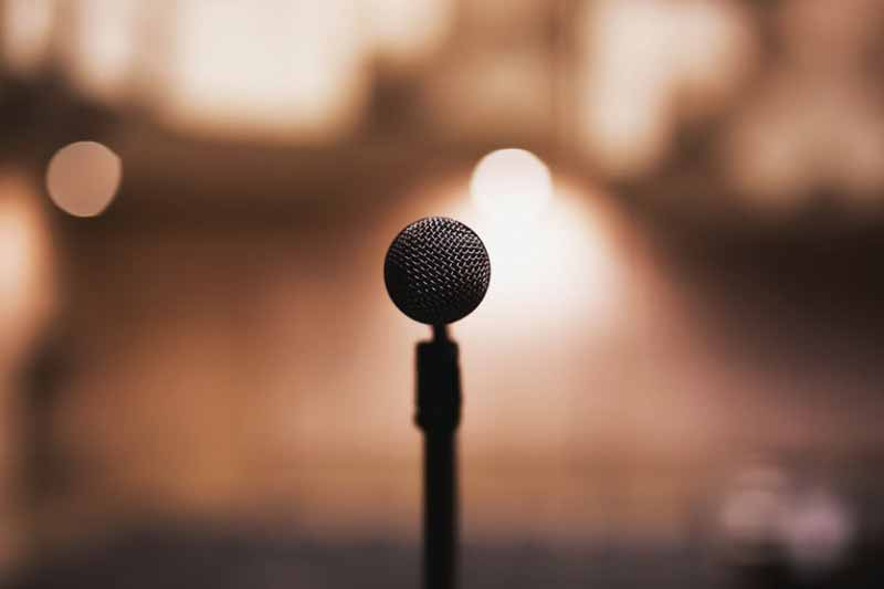 Microphone on Mic Stand