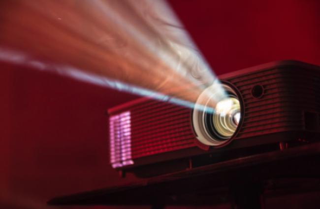 Projector presenting