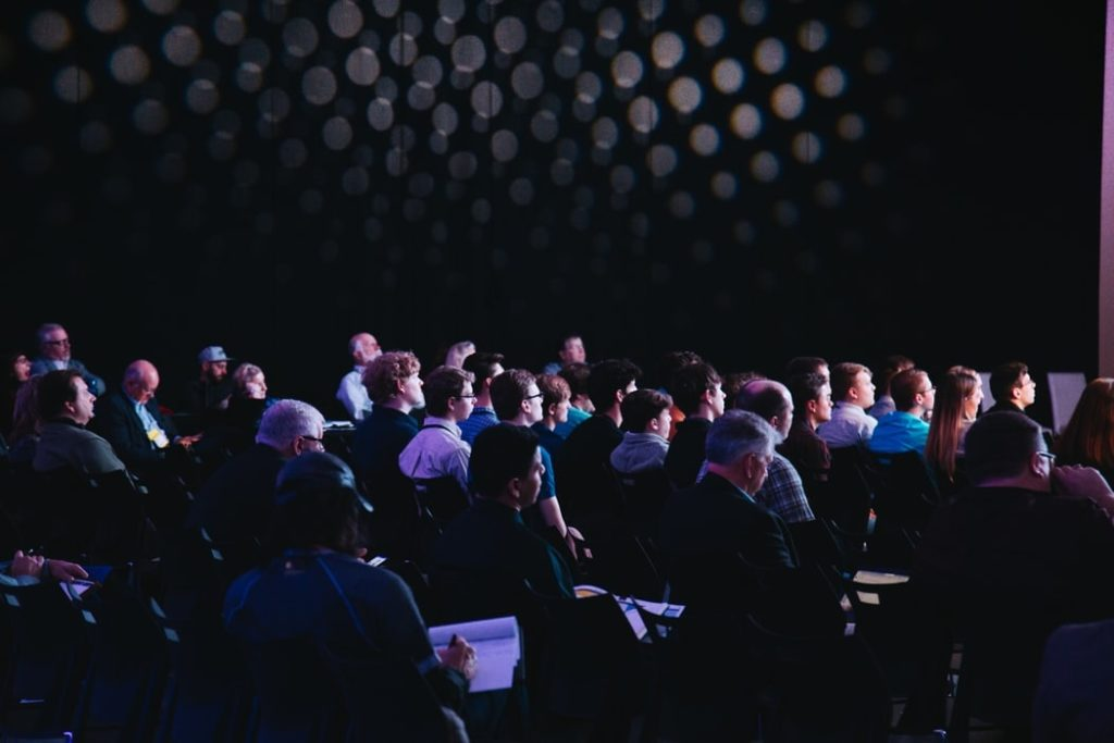 Audience at an Interactive conference presentation