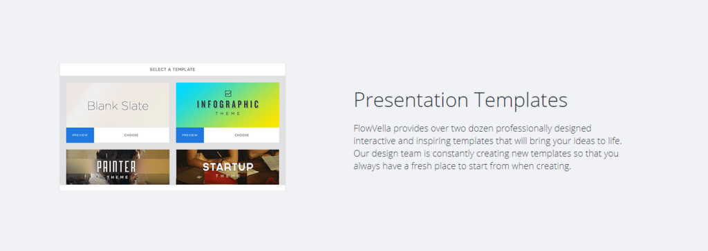 FlowVella presentation software screenshot