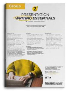 Presentation Writing Essentials topline