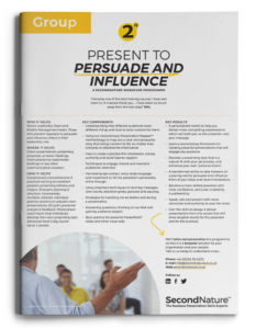 Present to Persuade and Influence topline (group)