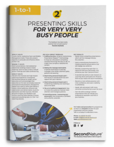 Presenting Skills For Very Very Busy People topline (1-to-1)