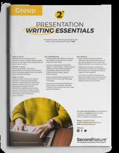 Presentation Writing Essentials topline (group)