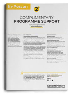 Complimentary programme support (in person)