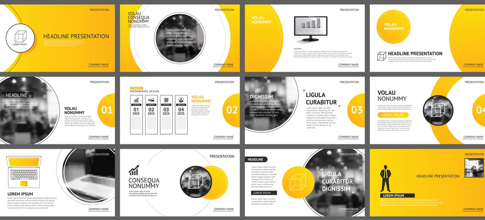 Consistent visuals help make group presentations more effective.